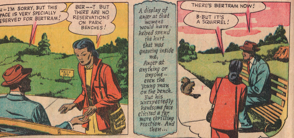 "Naturally, Bertram the Squirrel is my favorite character in ""Possessed!"" Negro Romance #2 (1950) (Fawcett)"