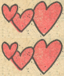 Romance comic book hearts Sequential Crush
