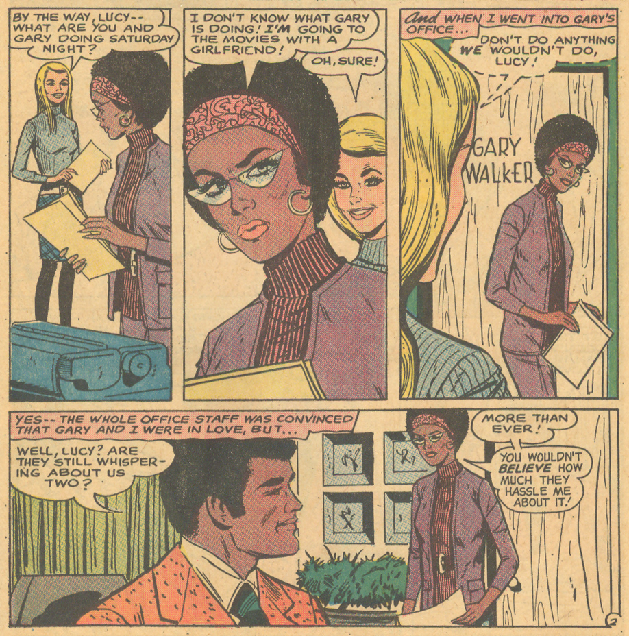 African-American characters in romance comic books 1970s Black characters