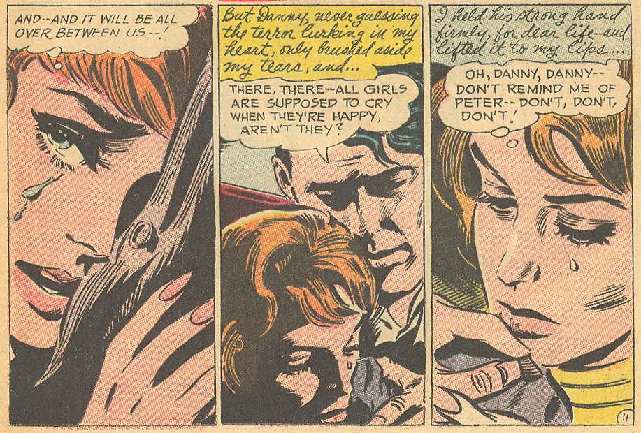 """Diary of a Broken Heart"" Young Romance #144 (October/November 1966)"