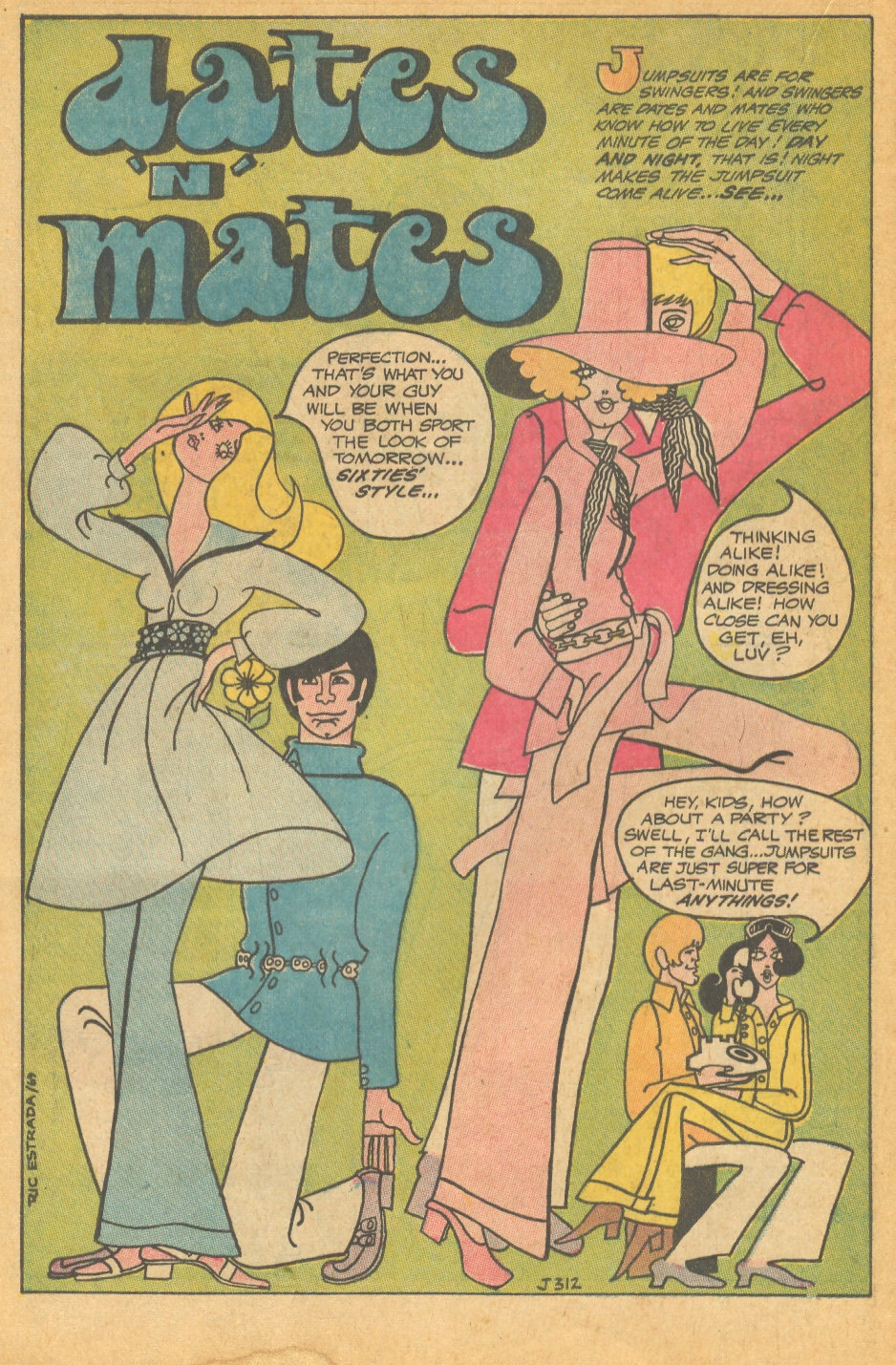 "Ric Estrada's ""Dates 'n' Mates"" Heart Throbs #122 (October/November 1969)"
