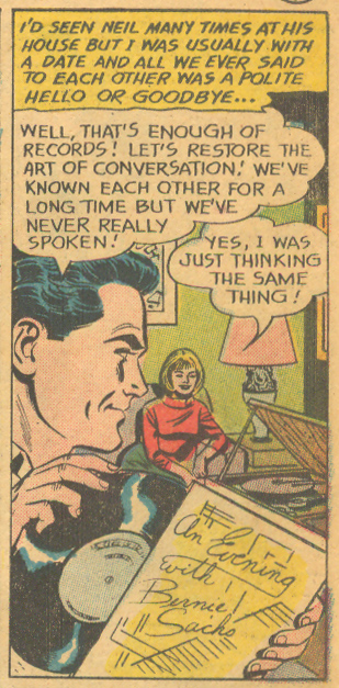 """End with a Kiss"" Young Love #41 (January/February 1964) Pencils: Mike Sekowsky, Inks: Bernard Sachs"