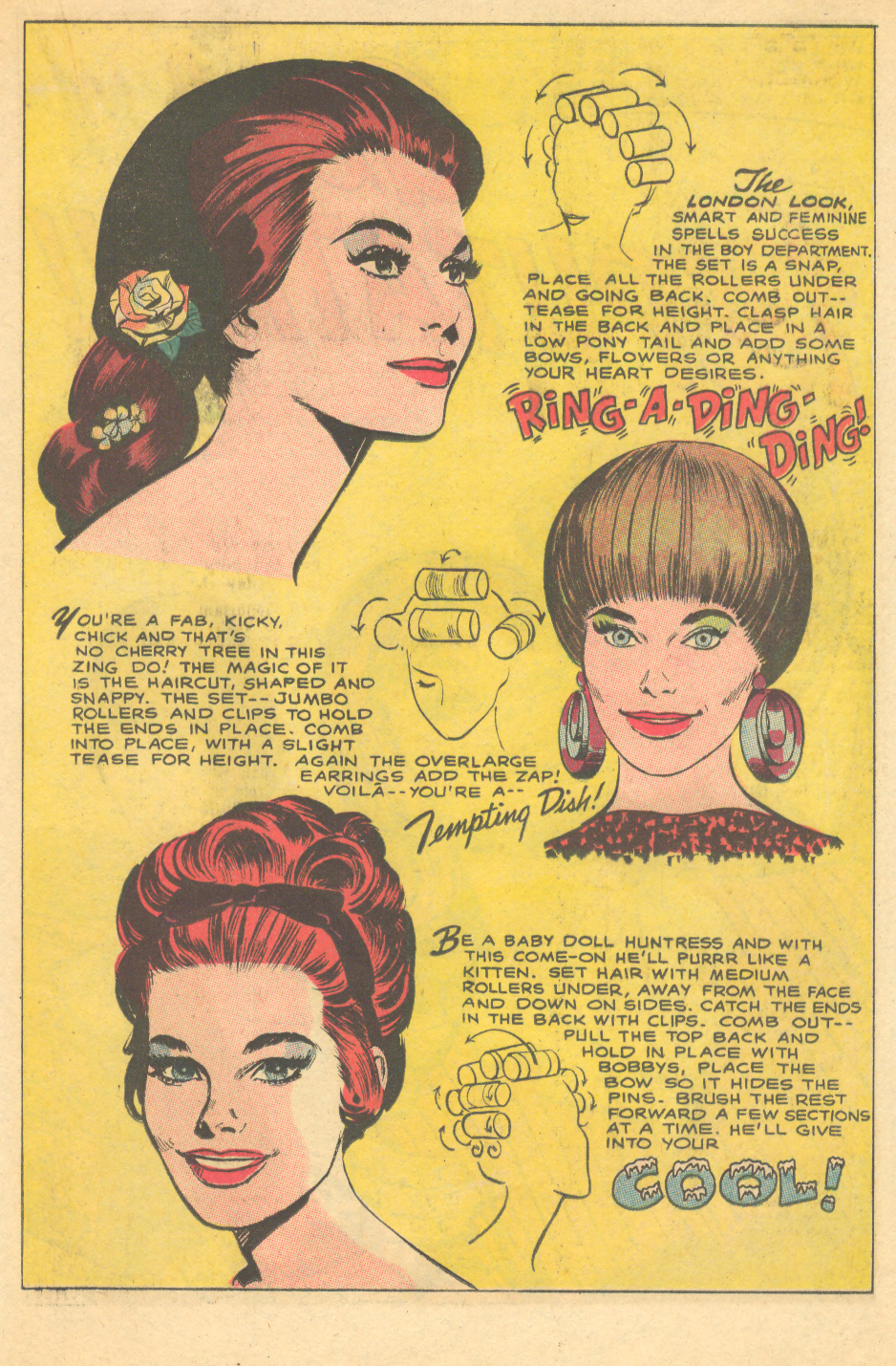 Vintage fashion illustration hair styles Jay Scott Pike