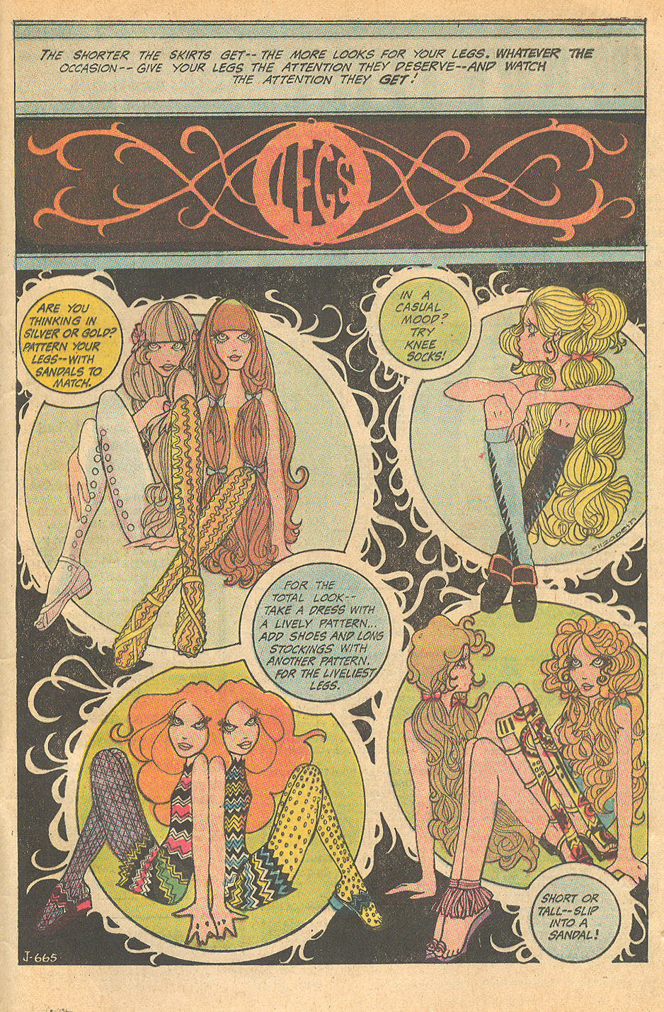 """Legs""  Illustrated by ""Elizabeth""  Girls' Love Stories  #150 (April 1970)"