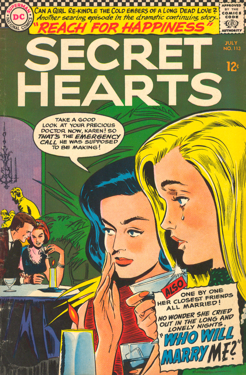 Secret Hearts romance comic book soap opera love story drama Peyton Place
