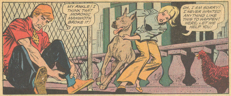 """Love Thy Neighbor"" from Girls' Love Stories #157 (February 1971) Puppy Love story Art Saaf"