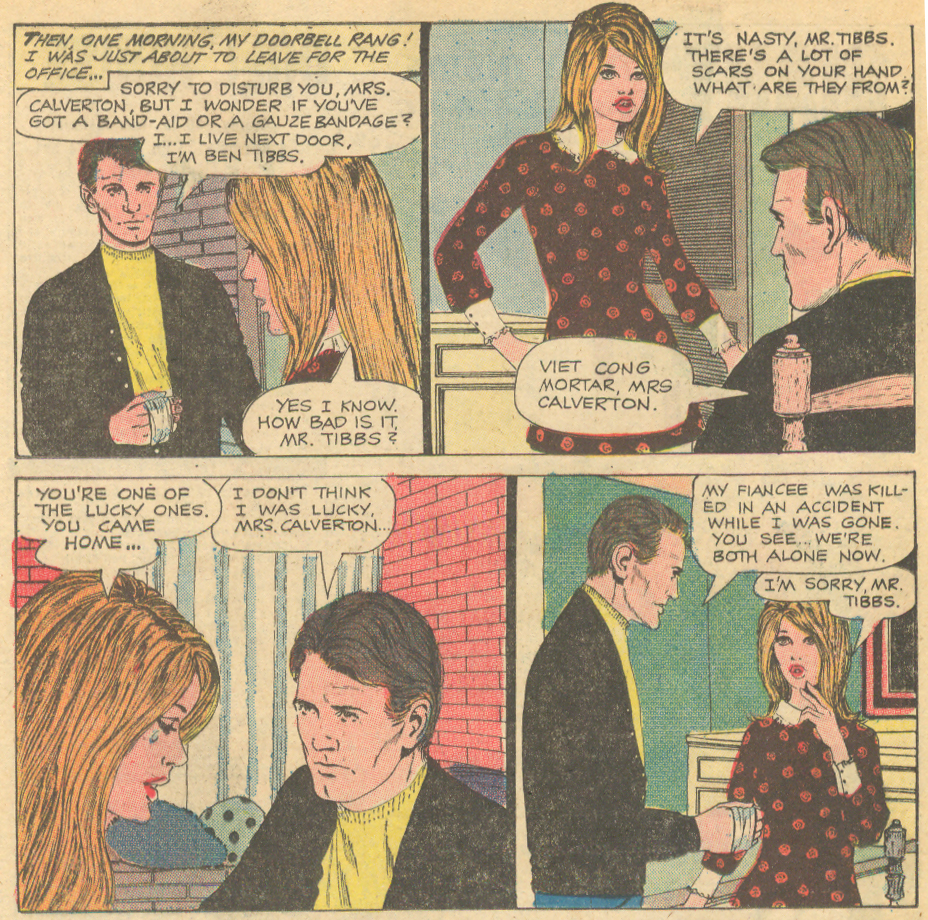 """Love Lies Deep and Cold"" from Charlton's Time for Love #16 (May 1970). Story art is by Luis Avila."