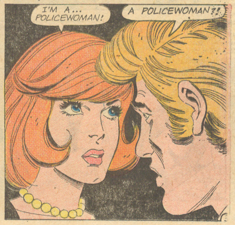 """Love Wears No Uniform!"" from Career Girl Romances #73 (February 1973) Jack Abel Gary Abel Lady Cop"