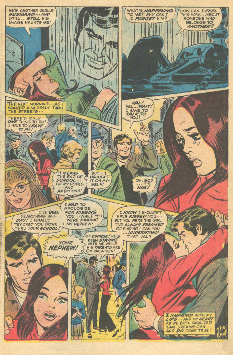 John Romita, Sr. romance comic book Marvel floating heads in comics
