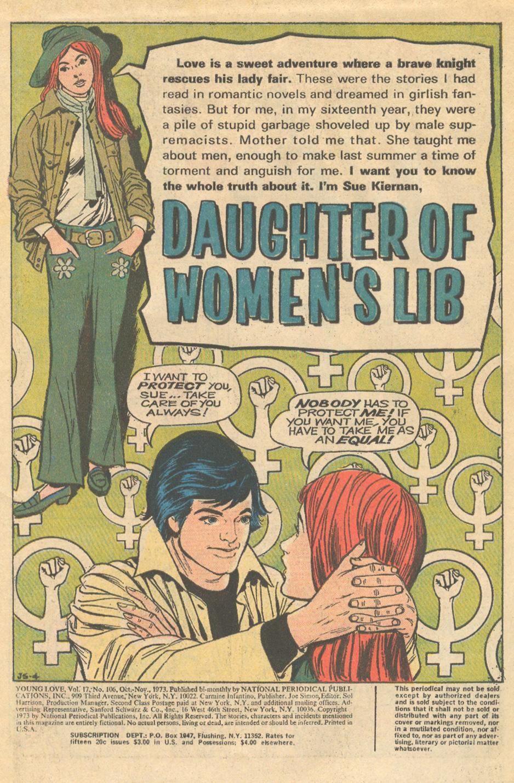 Women's Lib Young Love Hot Pants 1970s stories romance comics