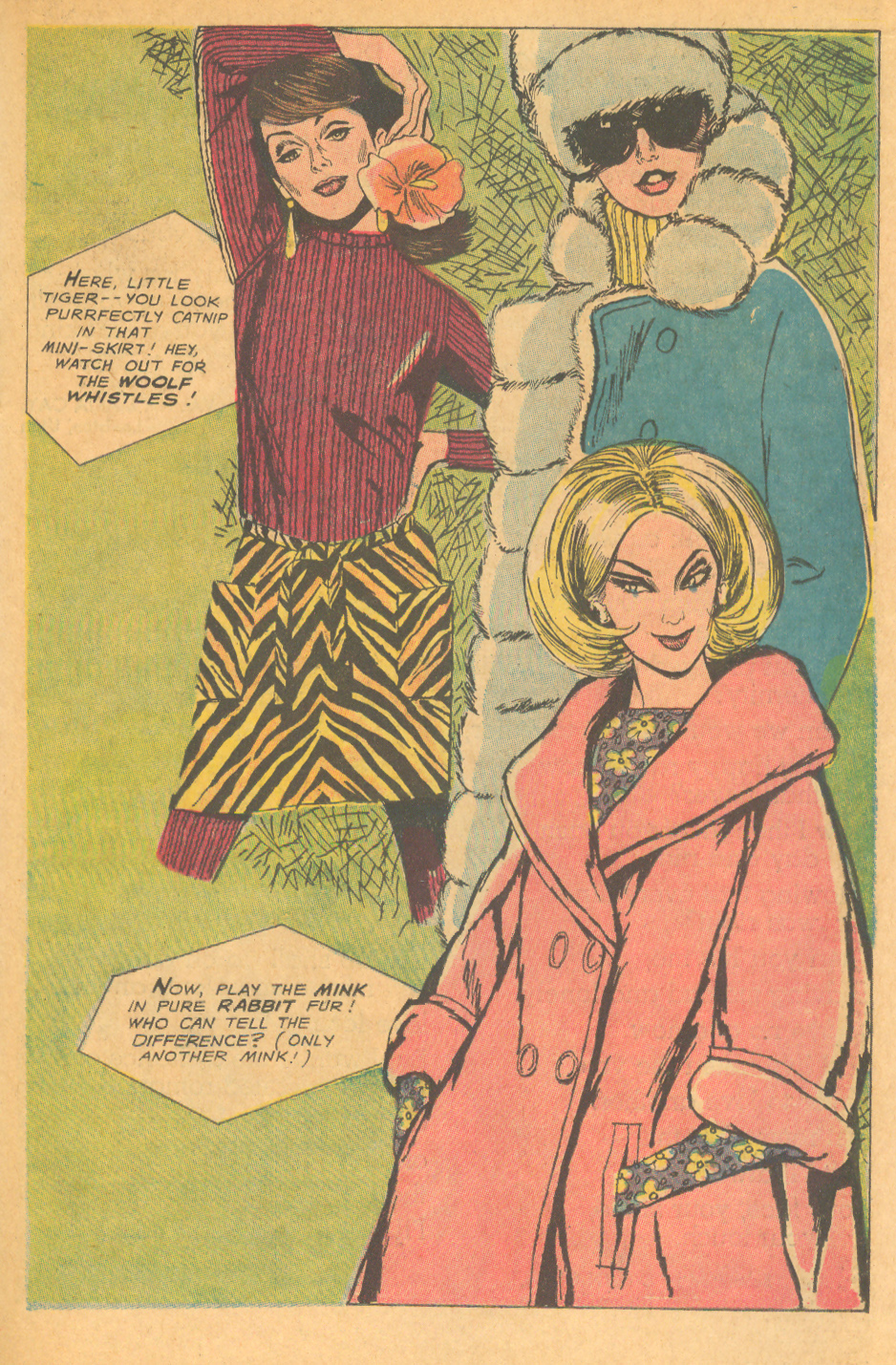 Mod fashion from the 1960s illustration Heart Throbs #106 (February/March 1967) with art by Tony Abruzzo!