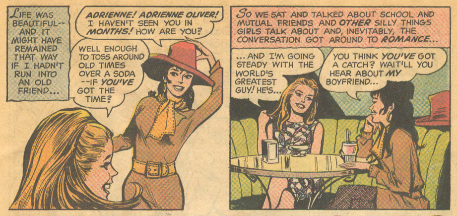Romance comic books dialogue