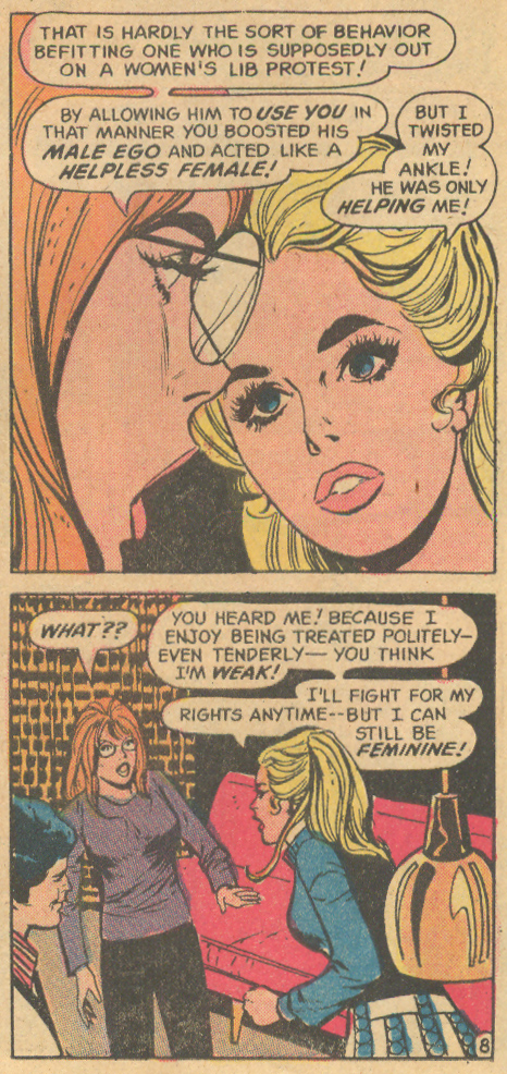 Women's Movement in the romance comic comics Marvel DC Charlton
