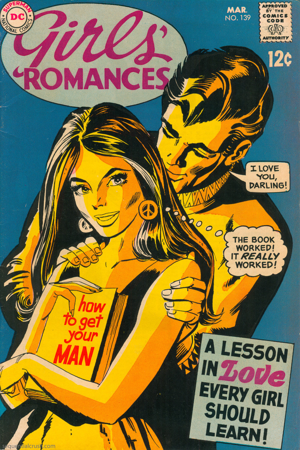 Girls' Romances  #139 (March 1969) - Cover art by Dick Giordano (GCD). Interior art appears to be a combination of Ric Estrada, Jack Abel, and maybe even Win Mortimer.
