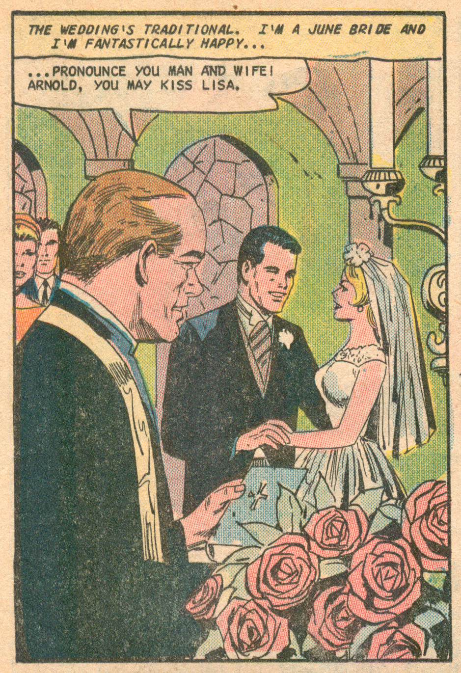 """A Gentle Man to Love""  Just Married  #54 (September 1967), Pencils: Charles Nicholas, Inks: Vince Alascia, Charlton Comics."