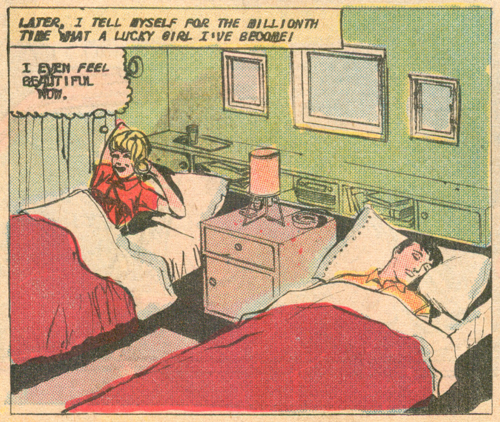 """Time of Beauty""  Just Married  #54 (September 1967), artist unknown, Charlton Comics."