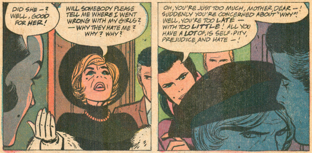 """20 Miles to Heartbreak"" (part IV)  Young Love  #79 (March/April 1970), Script: Barbara Friedlander, Pencils: Alex Toth, Inks: Vince Colletta, DC Comics."