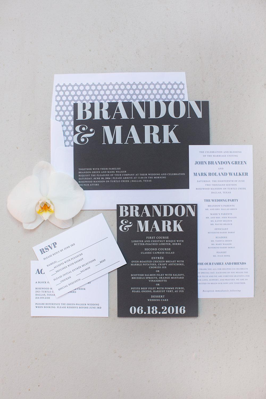 Stationary Details - Dallas, Tx - Summer Wedding - Julian Leaver Events