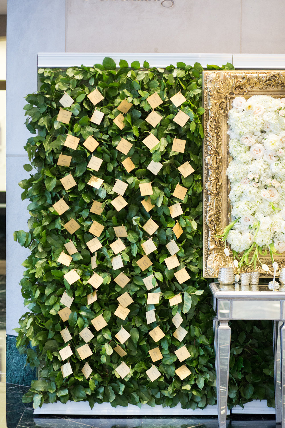 Escort Card Details - Dallas, Tx - Spring Wedding - Julian Leaver Events