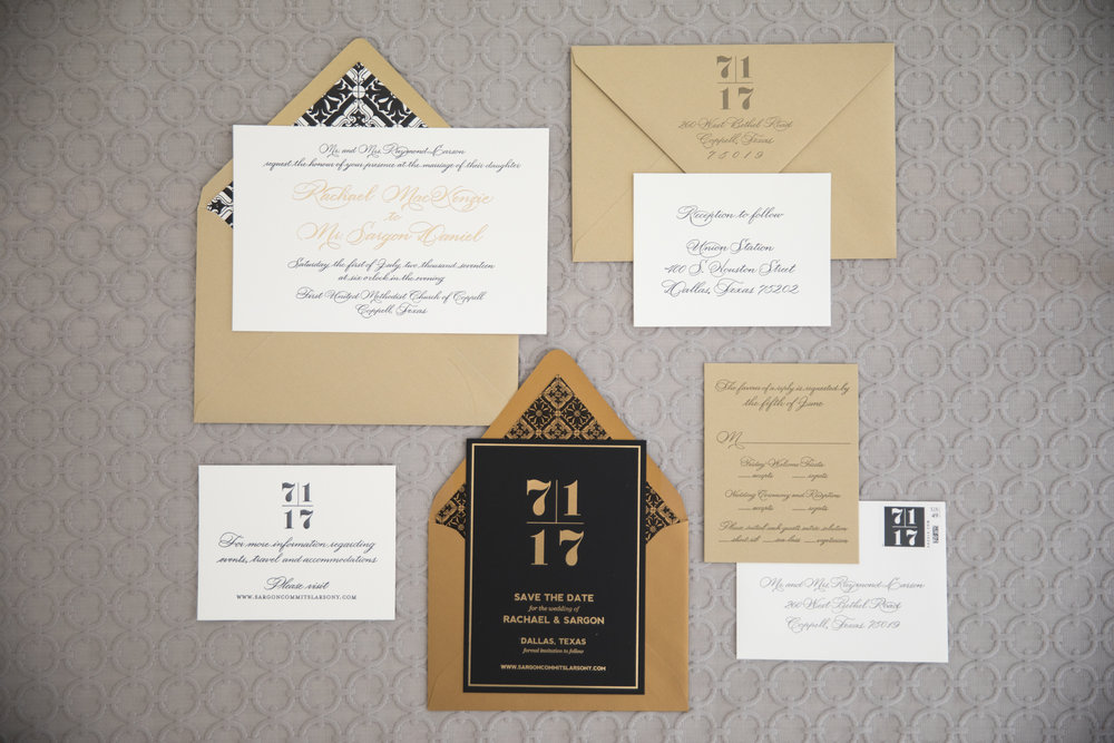 Stationary Details - Dallas, Tx - Summer Wedding - Julian Leaver Events