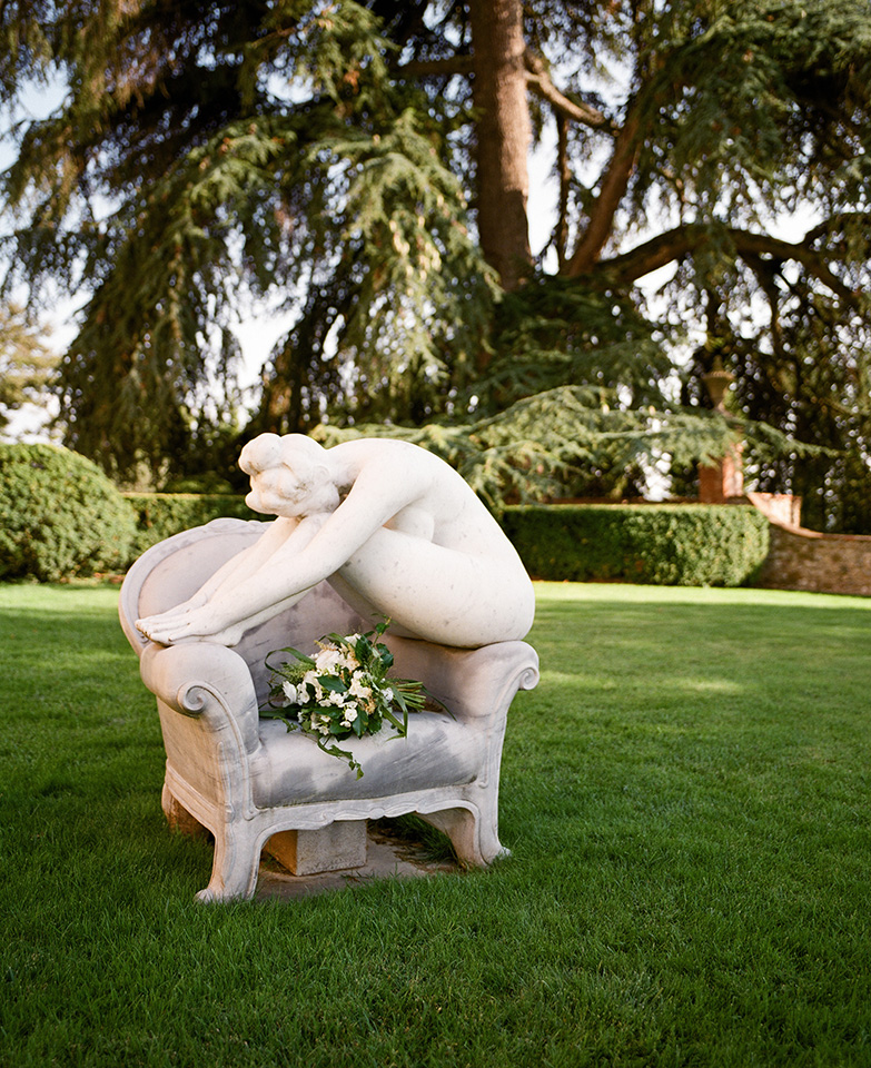 Bouquet Details - Castello Di Casole,Italy - Summer Wedding - Julian Leaver Events