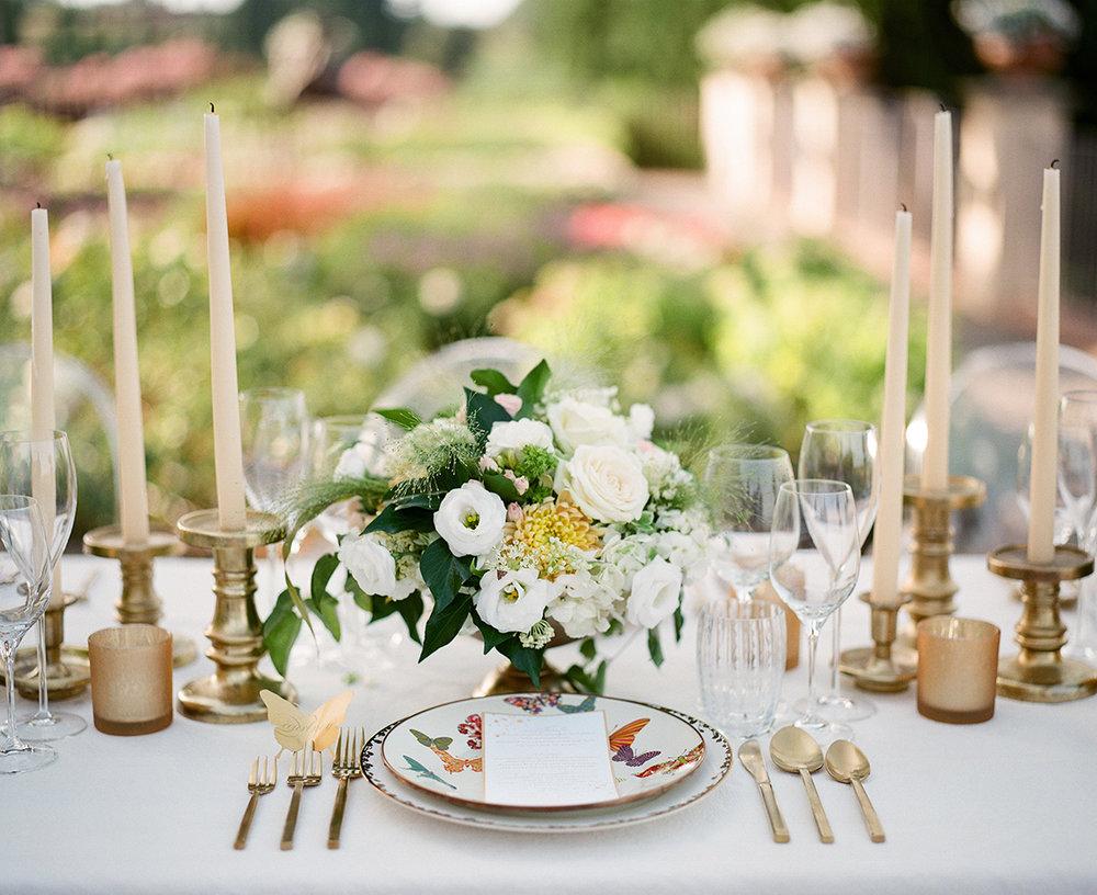 Tabletop Details - Castello Di Casole,Italy - Summer Wedding - Julian Leaver Events