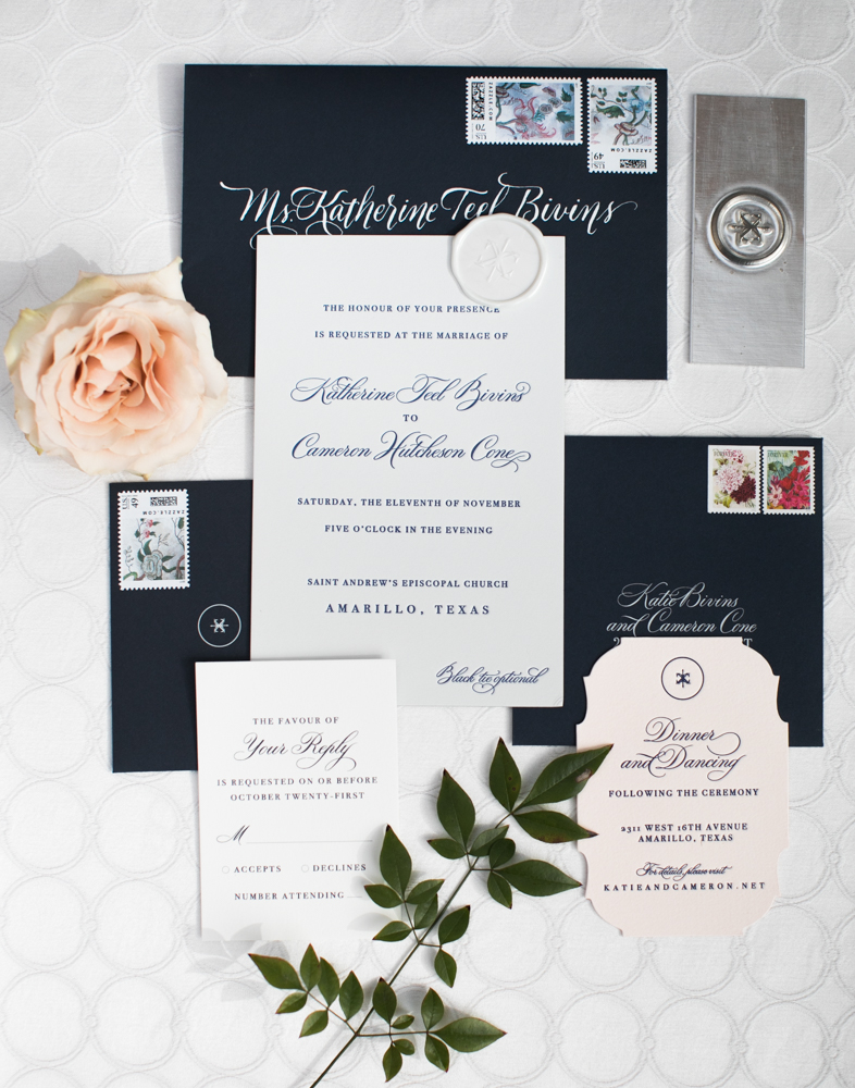 Stationery Details - Amarillo, Texas - Winter Wedding - Julian Leaver Events
