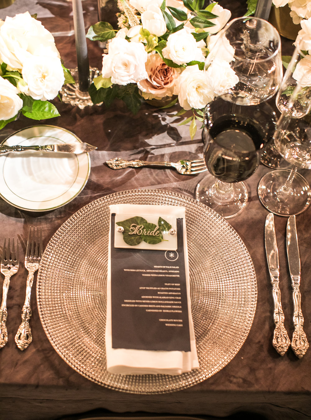 Tabletop Details - Amarillo, Texas - Winter Wedding - Julian Leaver Events
