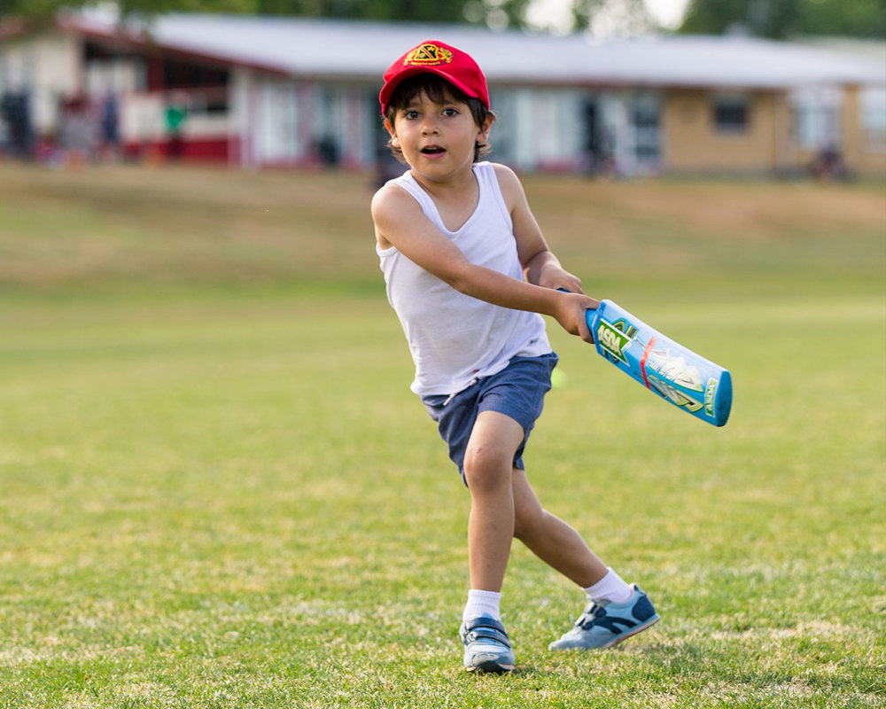 Five-year-old former refugee receives the gift of cricket -