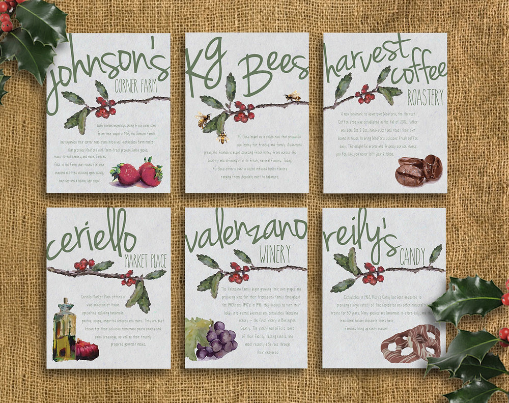 CARDS FOR COMPANY CHRISTMAS GIFT SET