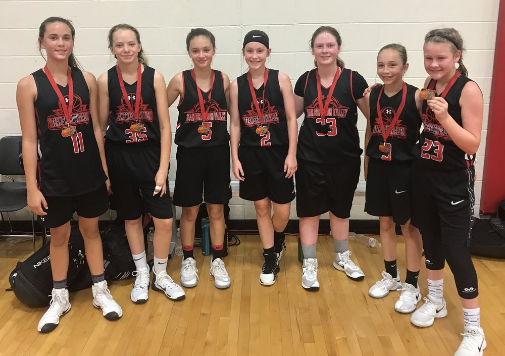 Our sixth grade girls battled into the championship and earned second place medals.