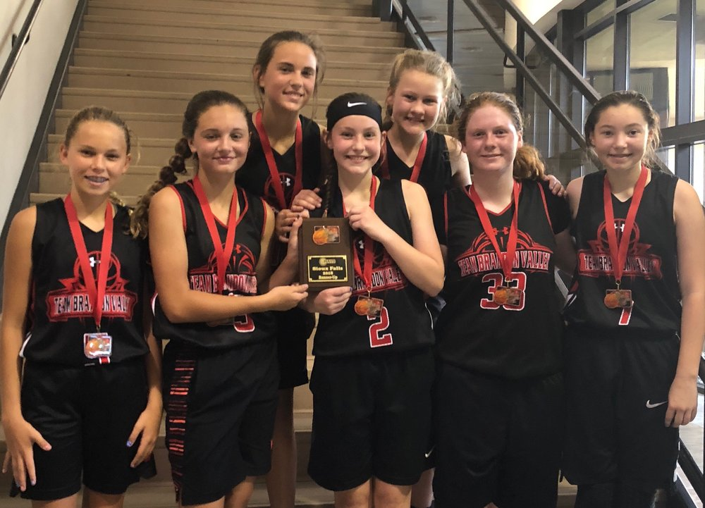 The Team Brandon Valley 6th grade girls earned second place medals at the Augustana University tournament.