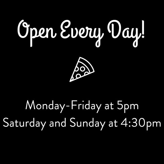 🎉💥🎉💥 And then we were open EVERY DAY! And a little earlier on Saturdays and Sundays now too 😉