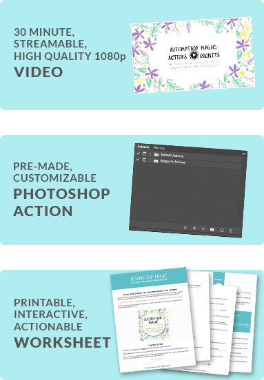 Automation Magic Package, learn photoshop, photoshop tutorials, actions and droplets