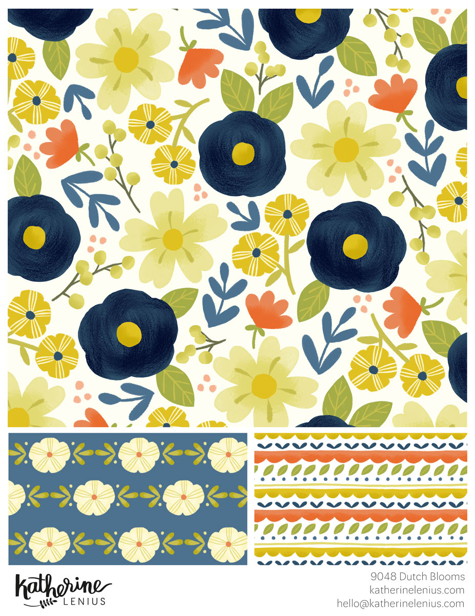 Another floral collection, this time it was created digitally.