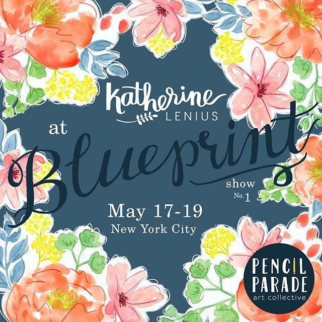 Going into the final stretch of preparation for @blueprintshows! @katherinelenius and the rest of Pencil Parade is ready to go! We'll be there with bells on (and cute animals, geometrics, florals, and all kinds of other things!) #blueprintshows #blueprintshow1 #artlicensing #artlicensingshow #artbuyer #surfacedesign #patterndesign #textiledesign #pencilparade