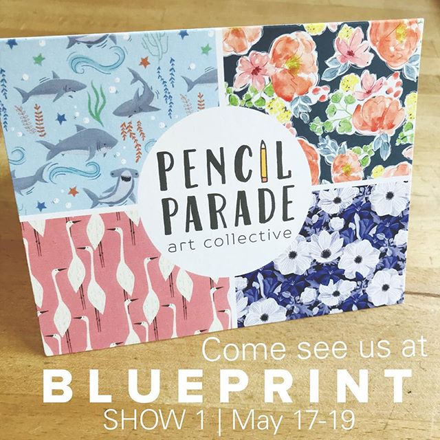 Only a few days until Blue Print Show 1! We're excited to see each other AND to see you. Stop by Booth #44 to visit Pencil Parade!  #blueprintshows #blueprintshow1 #pencilparade #artbuyers #artlicensing #surfacedesign