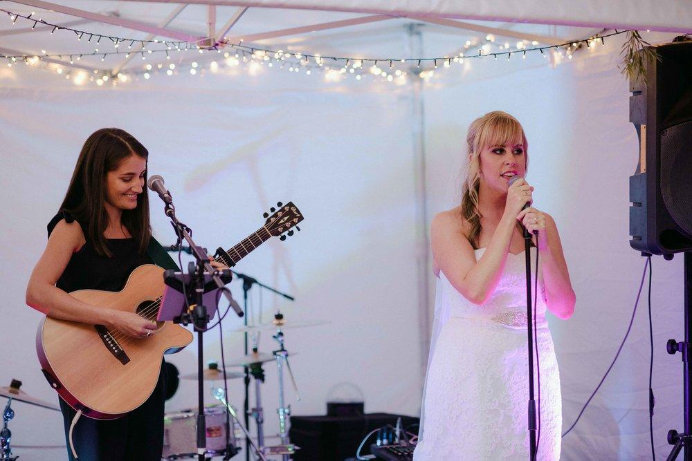 SINGING AT MY WEDDING