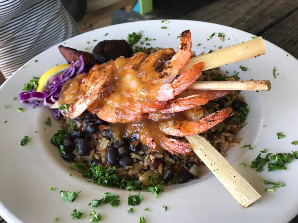 Grilled Caribbean Sugar Cane Shrimp