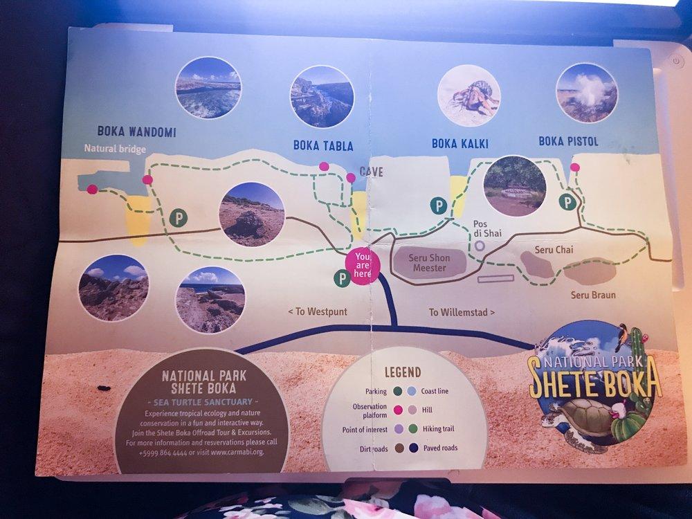 Map of Shete Boka National Park