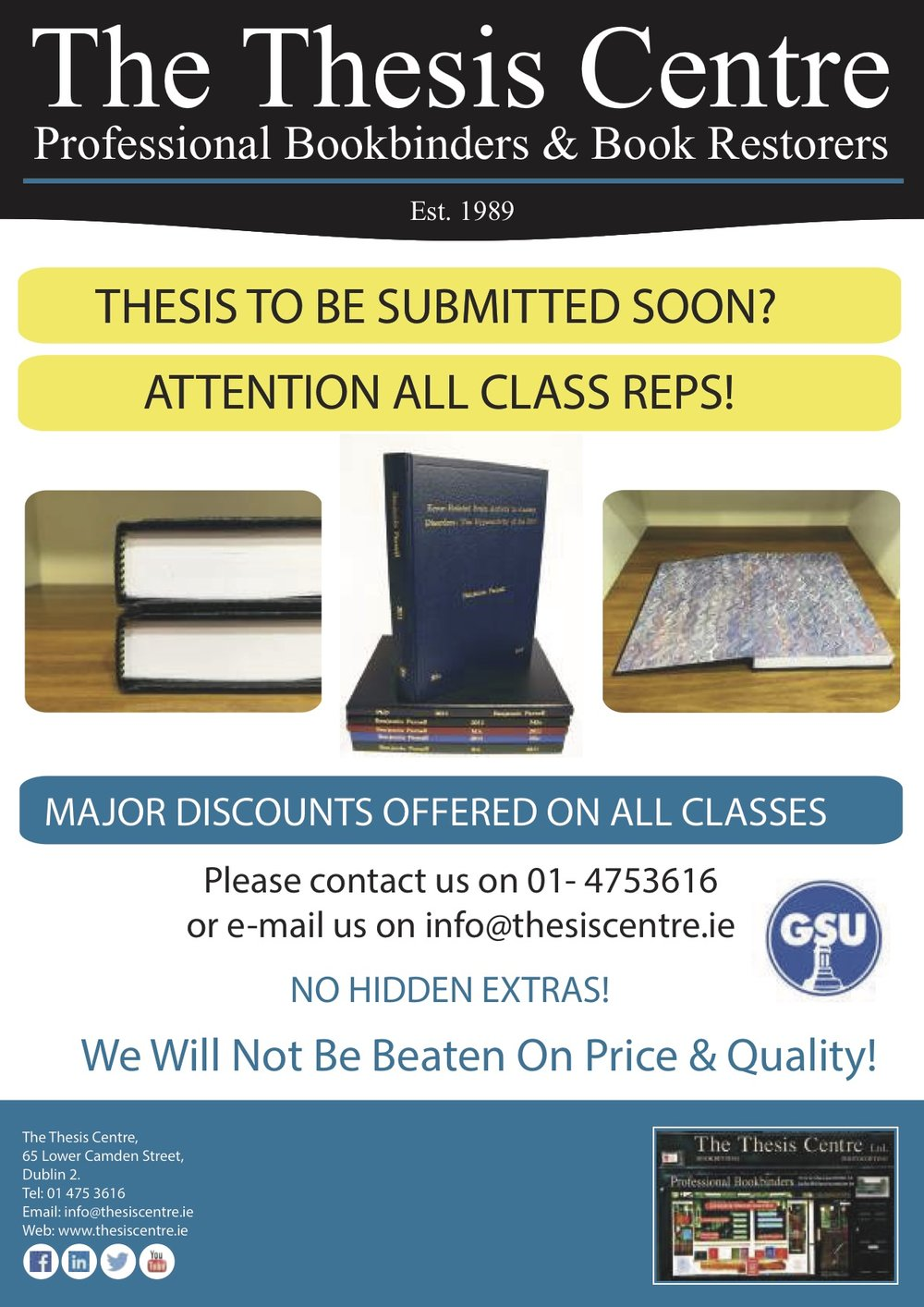 Thesis centre prices