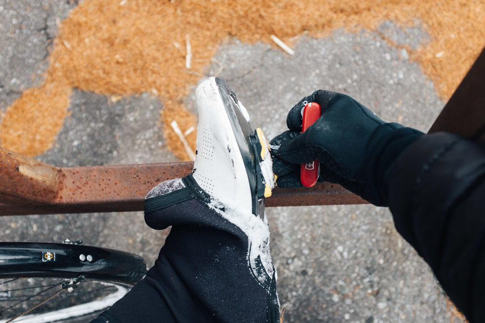 After 13 years of having this swiss army knife I have finally found the use for the spike tool, getting ice out of the bottom of cycling cleats after walking through deep snow.