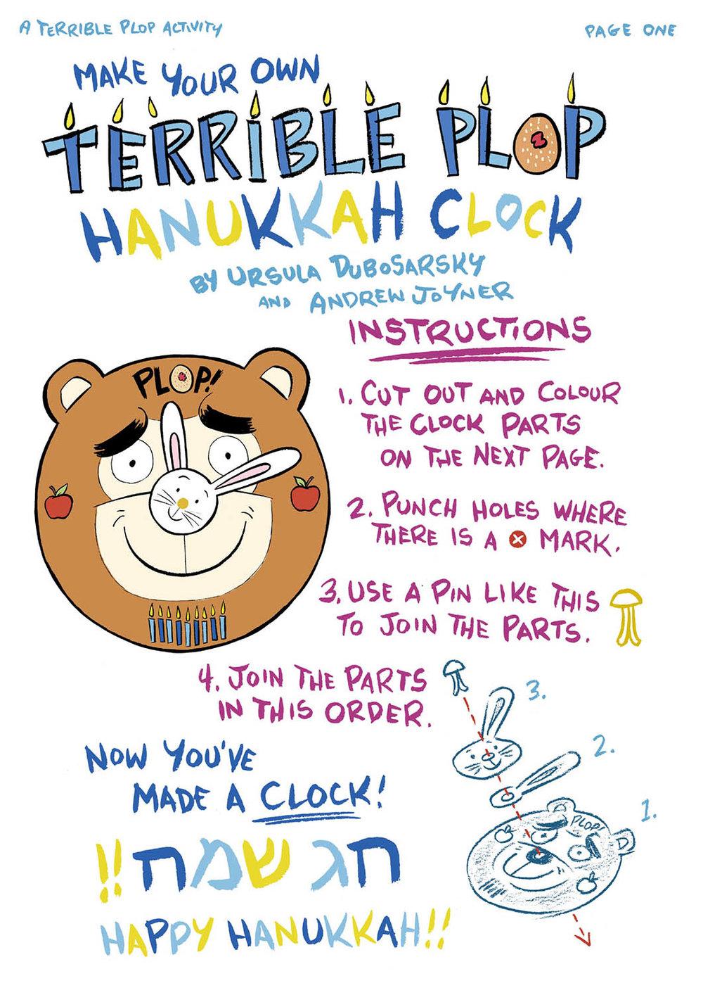the terrible plop hanukkah clock