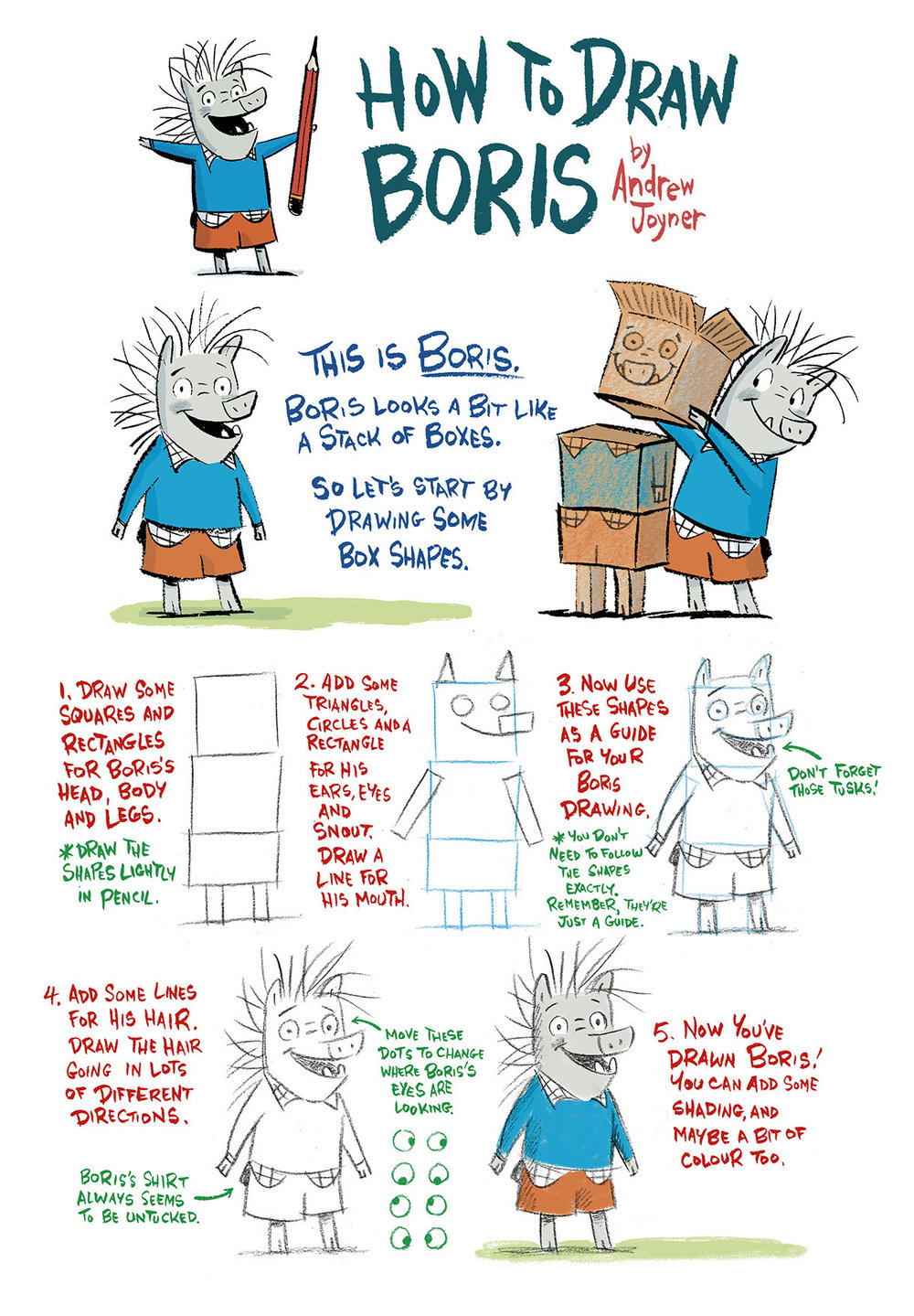 how to draw boris