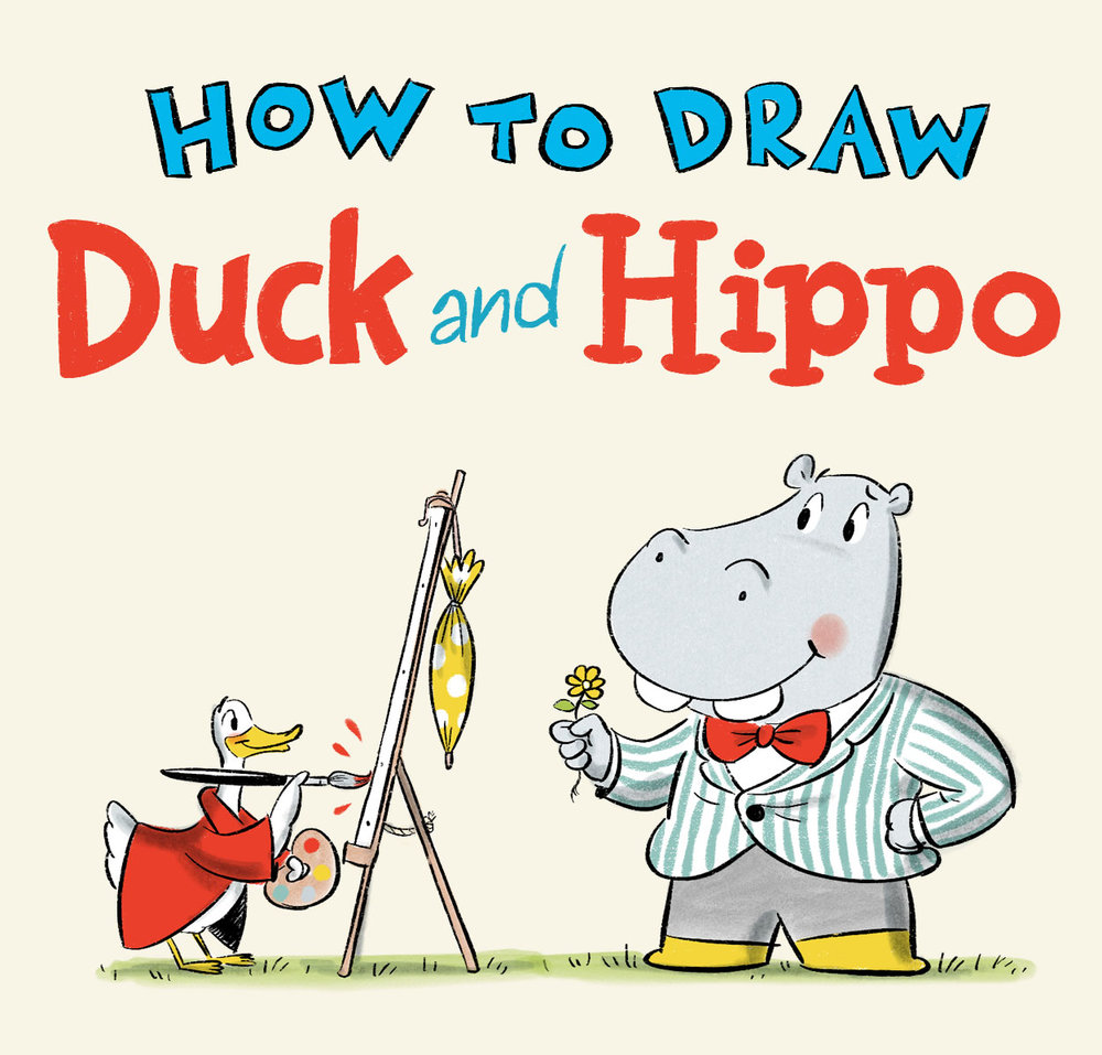 How to draw duck and hippo