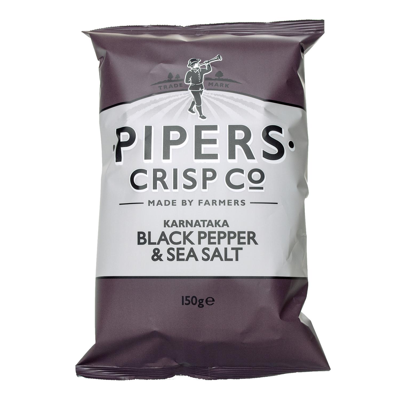 Pipers Crisp Co  Kamataka Black Pepper & Sea Salt 150g — Direct
