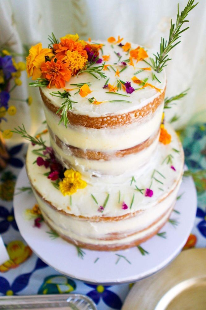 Where flowers bloom, so does hope! - This Easter, celebrate renewal with our featured small and tall cakes in flavors: Maple Pecan Carrot Cake & Orange Berry Olive Oil Cake topped with the an assortment of beautiful flowers bloomed from the emergence of Spring!Order by 4/17 for an Easter delivery/pick-up!