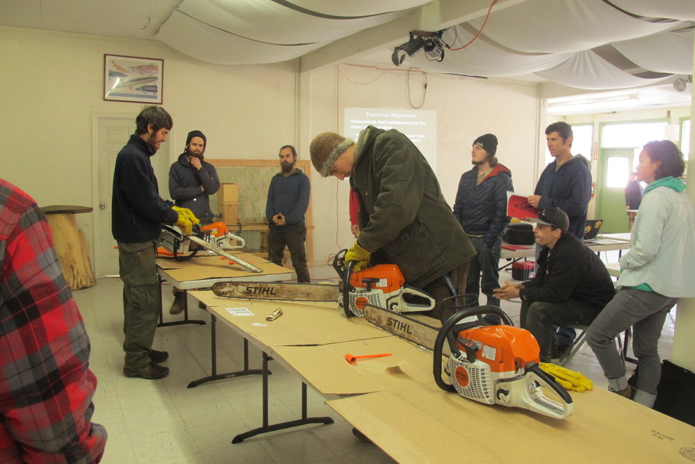 Chainsaw training Jan 2015.JPG
