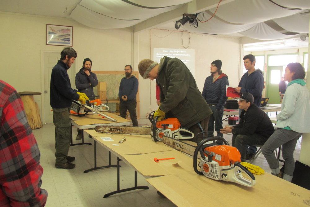 Chainsaw training Jan 2015.JPG