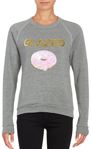 BOW AND DRAPE SEQUINED - DONUT PULLOVER
